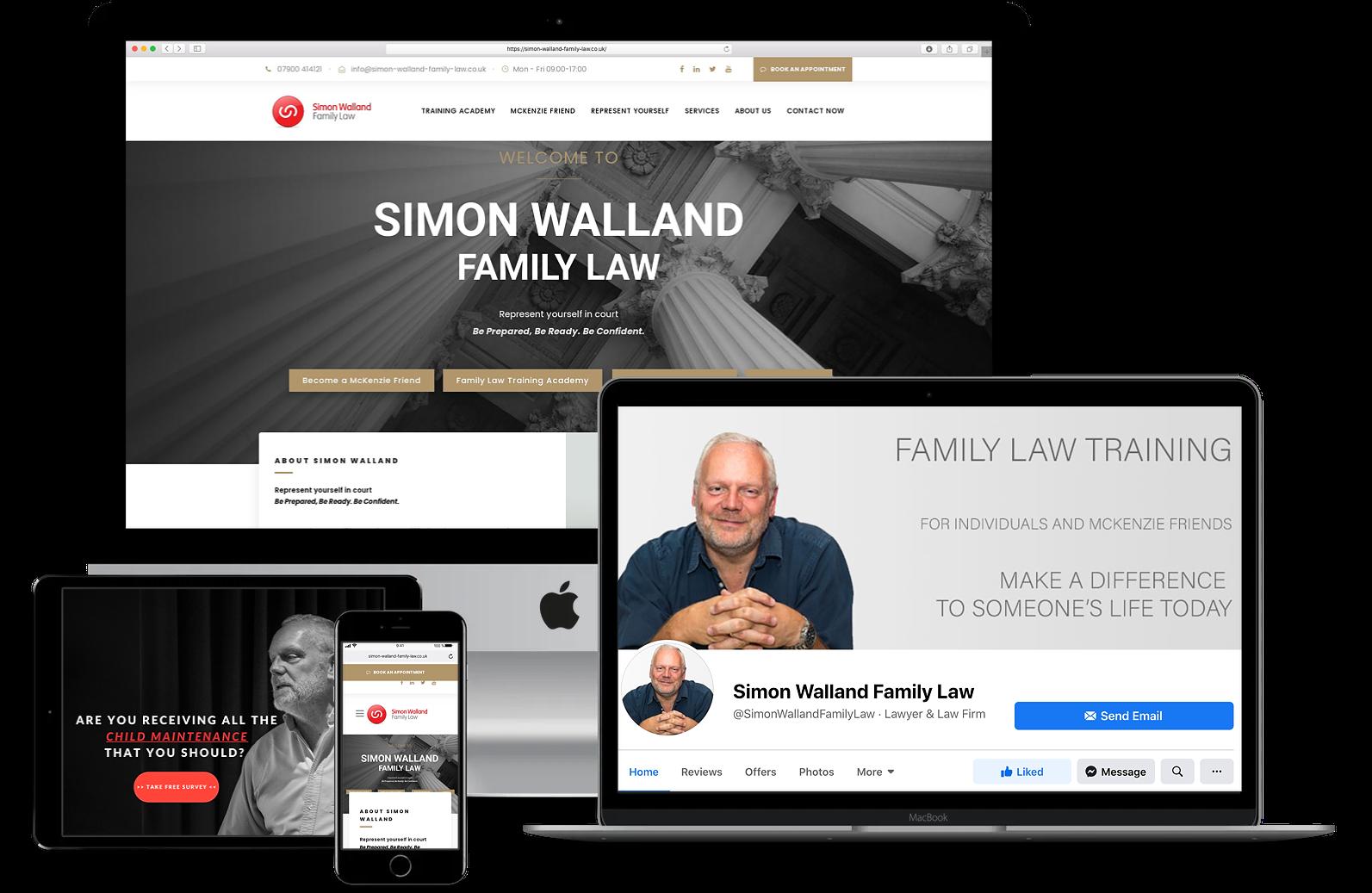 Simon Walland Family Law Facebook Ads