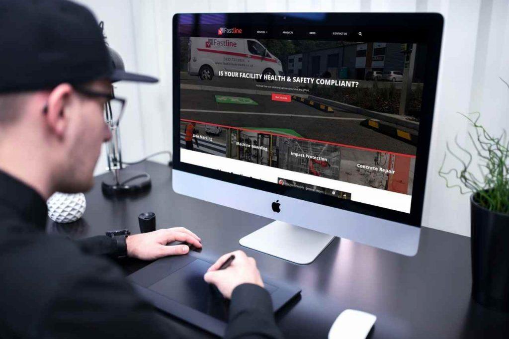 fastline mockup desktop